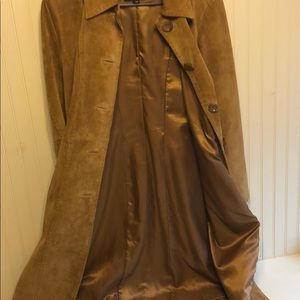 Express Jackets & Coats - Camel/brown suede long coat by Express